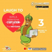 3 days left -- send your entries now to  WIN A STaYCati0N The Meydan Hotel   Giving away a 3day(2nights) staycation at the world's longest 5* hotel @TheMeydanHotels  How do you enter the competition?  To enter the competition, for the steps below;  1. Record your Genie's laugh  2. Post it on IG & Tag @ojamea1 #ojamea1  3. Get your friends & family to like it....  Very simple, lets make this fun and interesting  The laugh with the MOST LIKES wins the 3days Staycation at The Meydan Hotel  All competitors to follow @ojamea1 to make their entries valid  For more offers and giveaways follow @jags_d_genie  Follow @ojamea1 for more details  Order now on Ojamea.com or WhatsApp via: +971 589 343300 Download OjaMEA.COM Mobile app today  Farms Fresh| Butcher Shop| Food Cupboard Drinks Beverages Health Beauty Household  #ojamea #africansinuae #africansindubai #OjameaFarmfresh #OjameaFinest #Ojameaexpress #africanproducts #africanfood #africangroceryonline #africanonlineshop #dubaifood #africanonlinestore #dubaifoodie #amazon #noon #africanproducts #africanfoodfestivaluae #africadubai #food #foodstagram #tastyfood #tasting #TheTasteOfHome #staycation #themeydanhotels #meydan #competition
