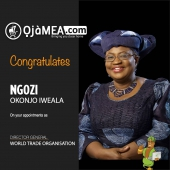 CONGRATULATIONS TO OUR VERY OWN NGOZI OKONJO-IWEALA!!!  On her appointment & confirmation as the FIRST WOMAN, AFRICAN to lead the WTO @worldtradeorganization  Thank you for inspiring a new generation of women and girls to aspire for excellence and greatness.  You are indeed outstanding and we are proud of you @NOIweala @WTO  #education #WTODG #WTO #SDG #womenleaders #womensupportingwomen #womendeliver #nigeriawomenwithstyle #womenru #outstandingwomen #excellentminds #belikengoziokonjoiweala #ojamea1  #OjameaFinest  #africanfoodfestivaluae  # akon #africansinuae #jags_d_genie  #ojamea  #africangroceryonline #africanonlineshop #dubaifood #africanonlinestore
